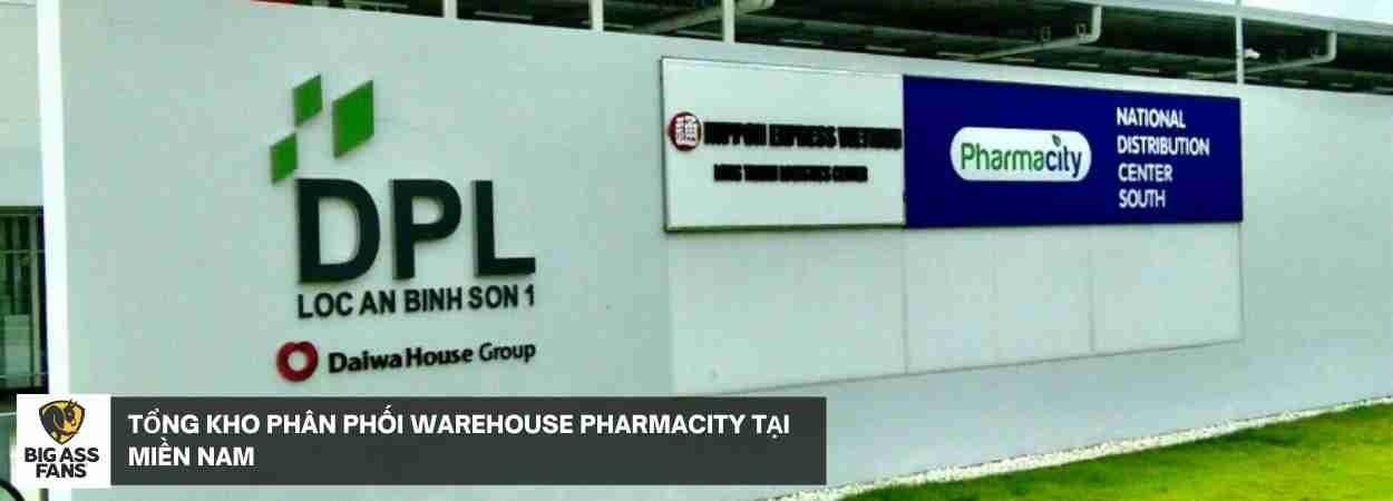 Thi công lắp đặt quạt trần công nghiệp Powerfoil 8 cho Tổng kho phân phối warehouse PharmaCity tại Miền Nam