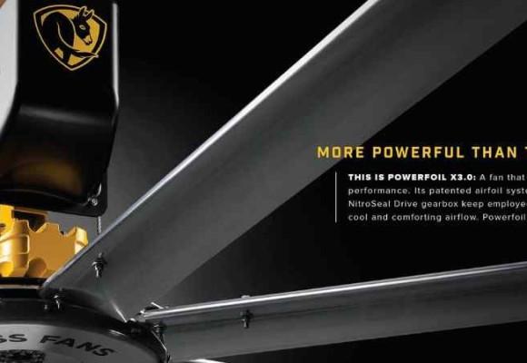 Tìm hiểu cấu tạo và cách lắp đặt quạt trần công nghiệp Powerfoil X3.0