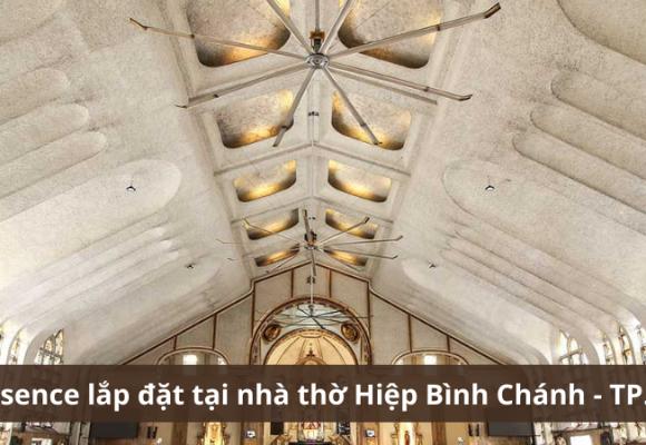 Quạt trần Essence lắp đặt tại nhà thờ Hiệp Bình Chánh - TP. Thủ Đức
