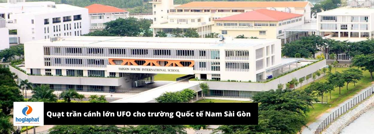 Trường quốc tế Nam Sài Gòn (SSIS) lắp đặt quạt trần sải cánh lớn 3m SUNON
